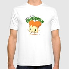 GingerBread Mens Fitted Tee SMALL White