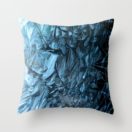 Geometric Frost Throw Pillow