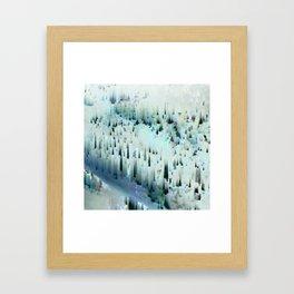 White Landscape / Snow Framed Art Print