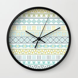 Aztec Influence Ptn Colorful Wall Clock