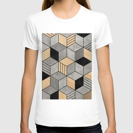 Concrete and Wood Cubes 2 T-shirt