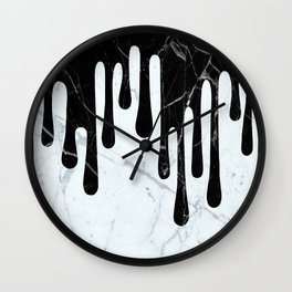 Marble Dripping Wall Clock