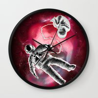 illusion Wall Clocks featuring Illusion by Rilke Guillén