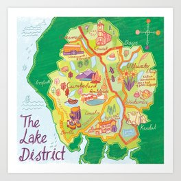 The Lake District Art Print