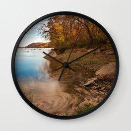 Autumn Susquehanna River Wall Clock