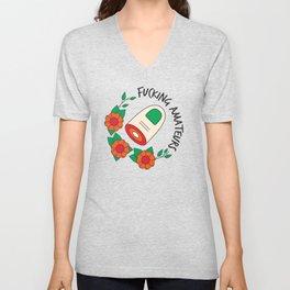 The Big Lebowski T-shirt: Fucking amateurs Unisex V-Neck