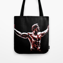 Arnold Schwarzenegger Portrait Pop  Tote Bag
