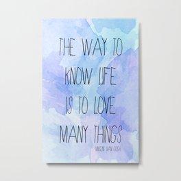 Life & Love - Van Gogh Metal Print