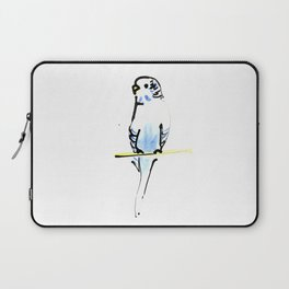 Blue and Yellow Pet Budgie Print Laptop Sleeve