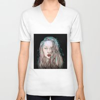 goddess V-neck T-shirts featuring Goddess  by Jenn