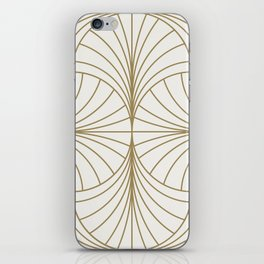 Diamond Series Inter Wave Gold on White iPhone Skin