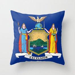 New York State Flag Throw Pillow