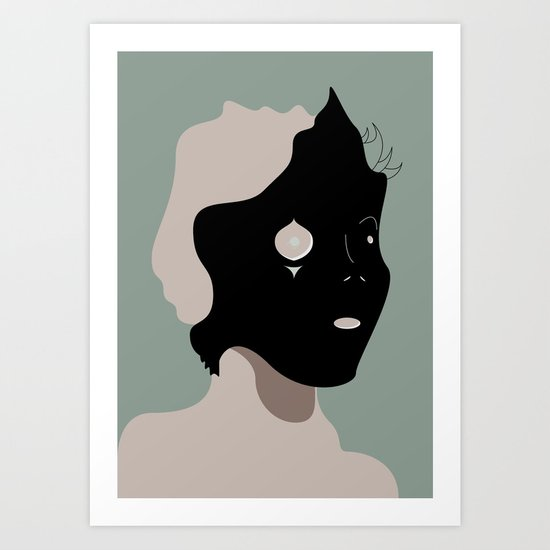 The Black Mask Collection 002 Art Print