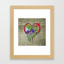 Succulent-lovers Garden Plant Framed Art Print