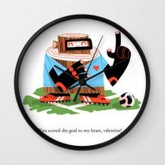 Wooden Robot Valentine Wall Clock