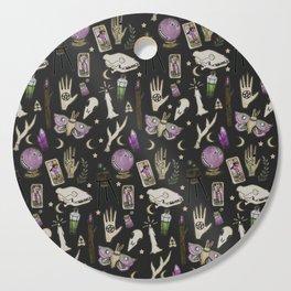 WITCH pattern • in black salt Cutting Board