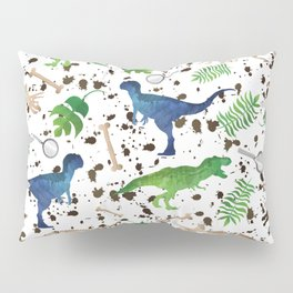 Watercolor Dinosaurs Pillow Sham