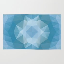 Triangles design in soft blue colors Rug
