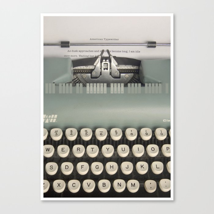 American Typewriter Canvas Print