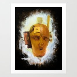 Dada Mechanical Head Painted Art Print