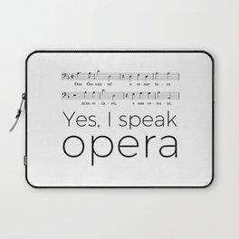 I speak opera (bass) Laptop Sleeve