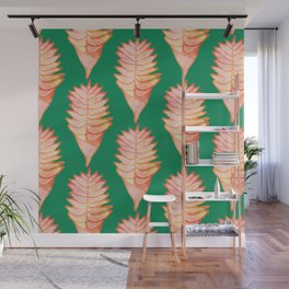 Heliconia Green Wall Mural