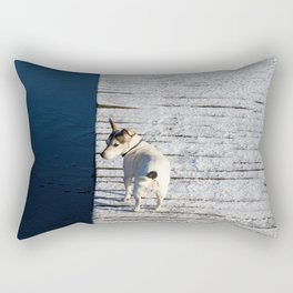 Dog going home Rectangular Pillow