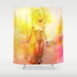 The Girl with the Sun in Her Hair - Summer Bloom Shower Curtain