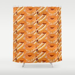 Hot Dogs and Donuts Shower Curtain