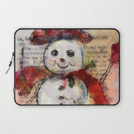 Snowman with Red Hat Laptop Sleeve