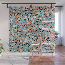 Back to school with masks Wall Mural