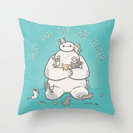 Hairy Baby Day Care Center Throw Pillow