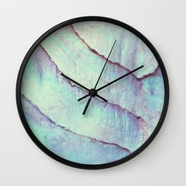IRIDISCENT SEASHELL MINT by Monika Strigel Wall Clock