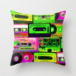 Cassetes Throw Pillow