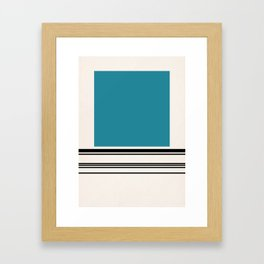 Code Teal Framed Art Print