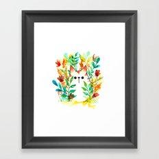 Garden Cat Framed Art Print