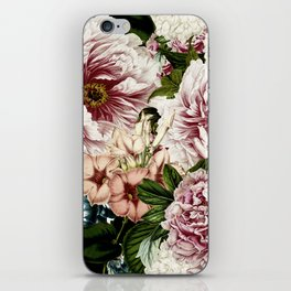 Vintage Peony and Ipomea Pattern - Smelling Dreams iPhone Skin