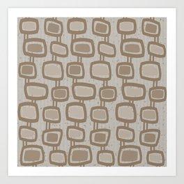 Dangling Rectangles in Brown Art Print