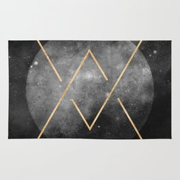 Gold Moon Geometric Tribal Design Rug