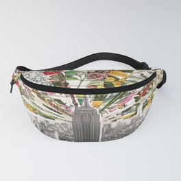 Vintage Blooming New York Fanny Pack