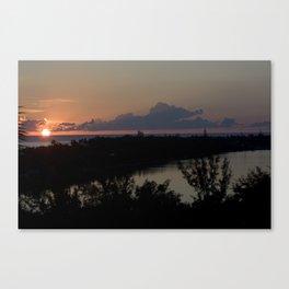St. Maarten Sunset Canvas Print