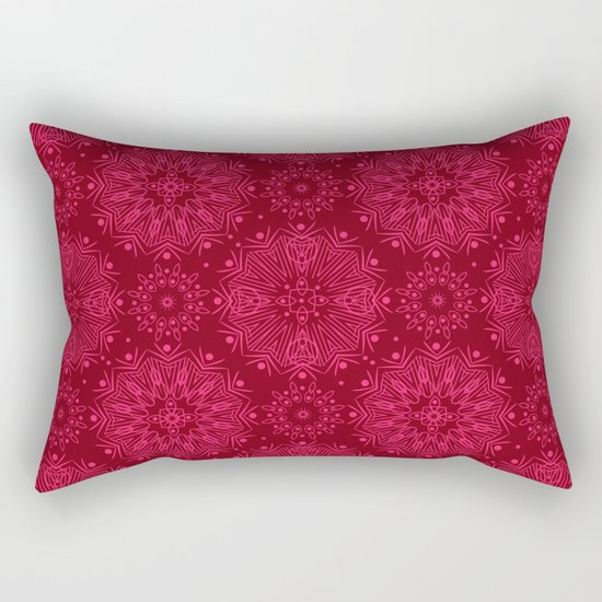 Red monochrome ornament . Rectangular Pillow