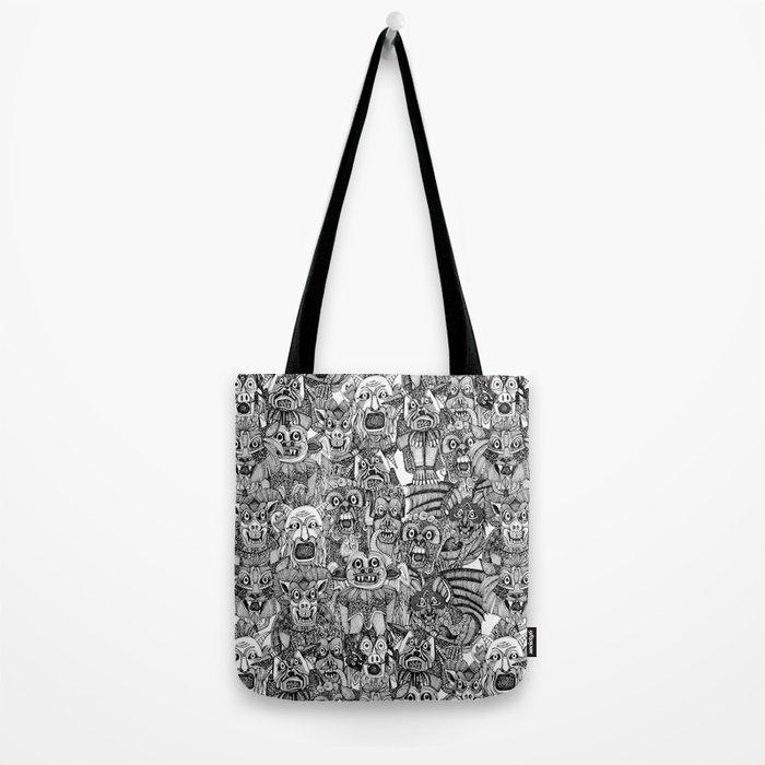 gargoyles black white Tote Bag