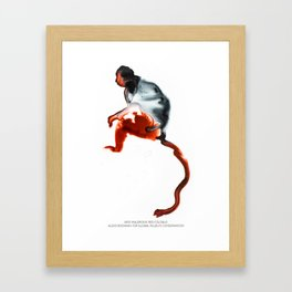 Miss Waldron's Red Colobus Framed Art Print