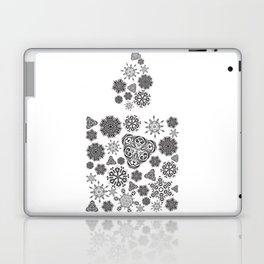 Snowflake candle Laptop & iPad Skin