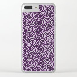 Spiral planet Clear iPhone Case