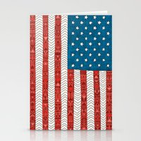 usa Stationery Cards featuring USA by Bianca Green