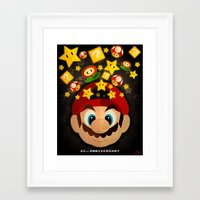 mario bros Framed Art Prints featuring Mario Bros 30th Anniversary by JAPdesign