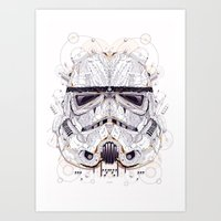 stormtrooper Art Prints featuring stormtrooper by yoaz