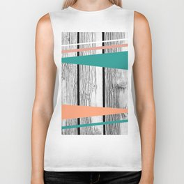 Colored arrows on wood Biker Tank